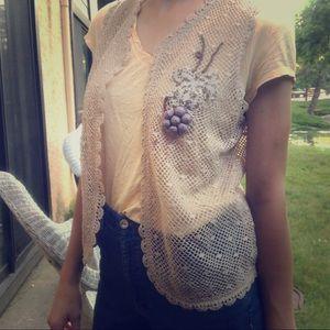 Vintage lace vest